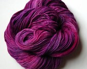 Hand dyed yarn, semi soli...