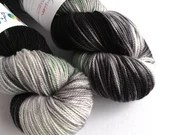Hand dyed black and grey ...