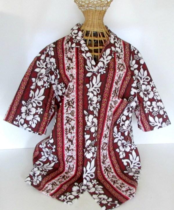 Vintage Mens Hawaiian Shirt Surfer Royal Creations Size L