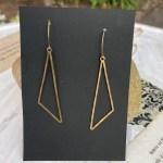 Hand Hammered Brass Triangle Dangles Modern Brass Earrings Brass Jewelry Minimalist Gold Earrings