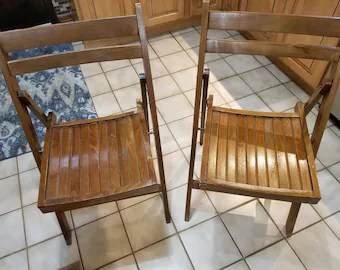 antique lawn chairs comfy room retro folding etsy vintage wood made in romania circa 1940s to 1950s hardwood matching indoor or outdoor use