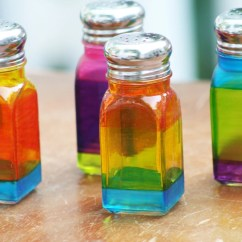 Colorful Kitchen Accessories Outdoor Kitchens San Antonio Fused Glass Salt Pepper Shakers Etsy Image 0