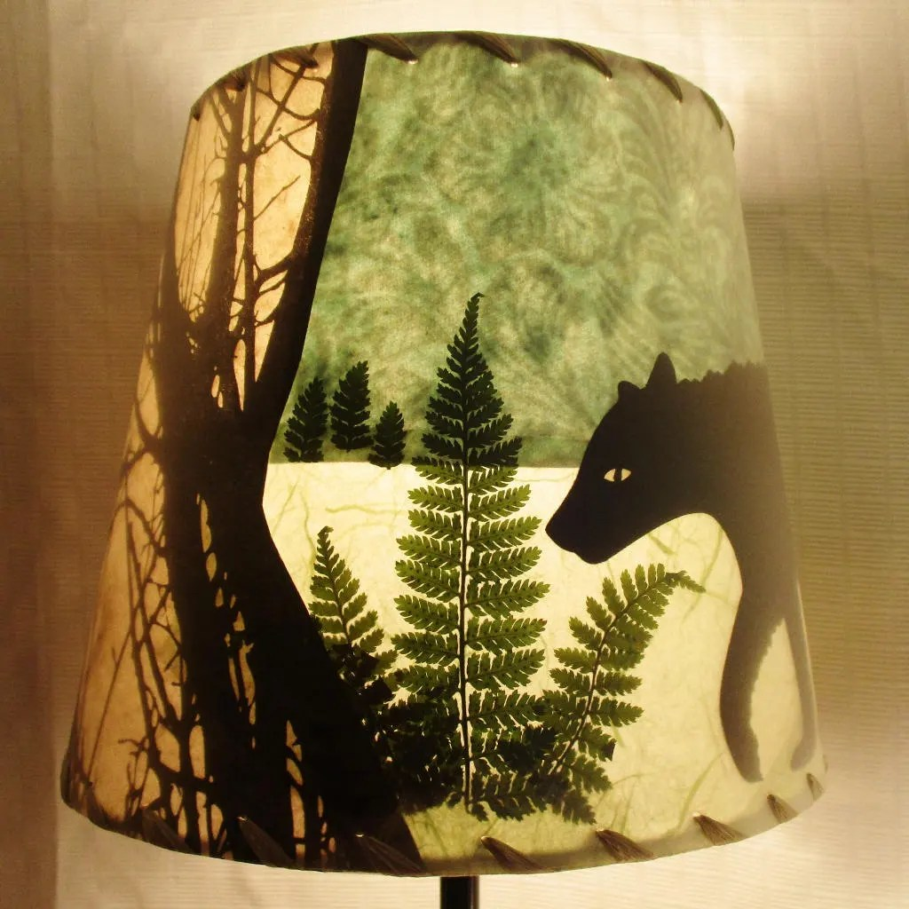 Bear Lamp Shade Paper Collage Lampshade Small Clip Top Drum