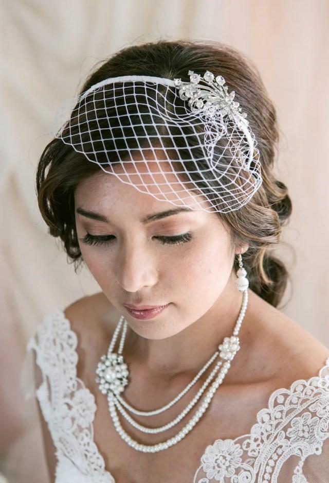 birdcage veil headband, short veil, short wedding veil, headband veil, birdcage wedding veil, short wedding veil