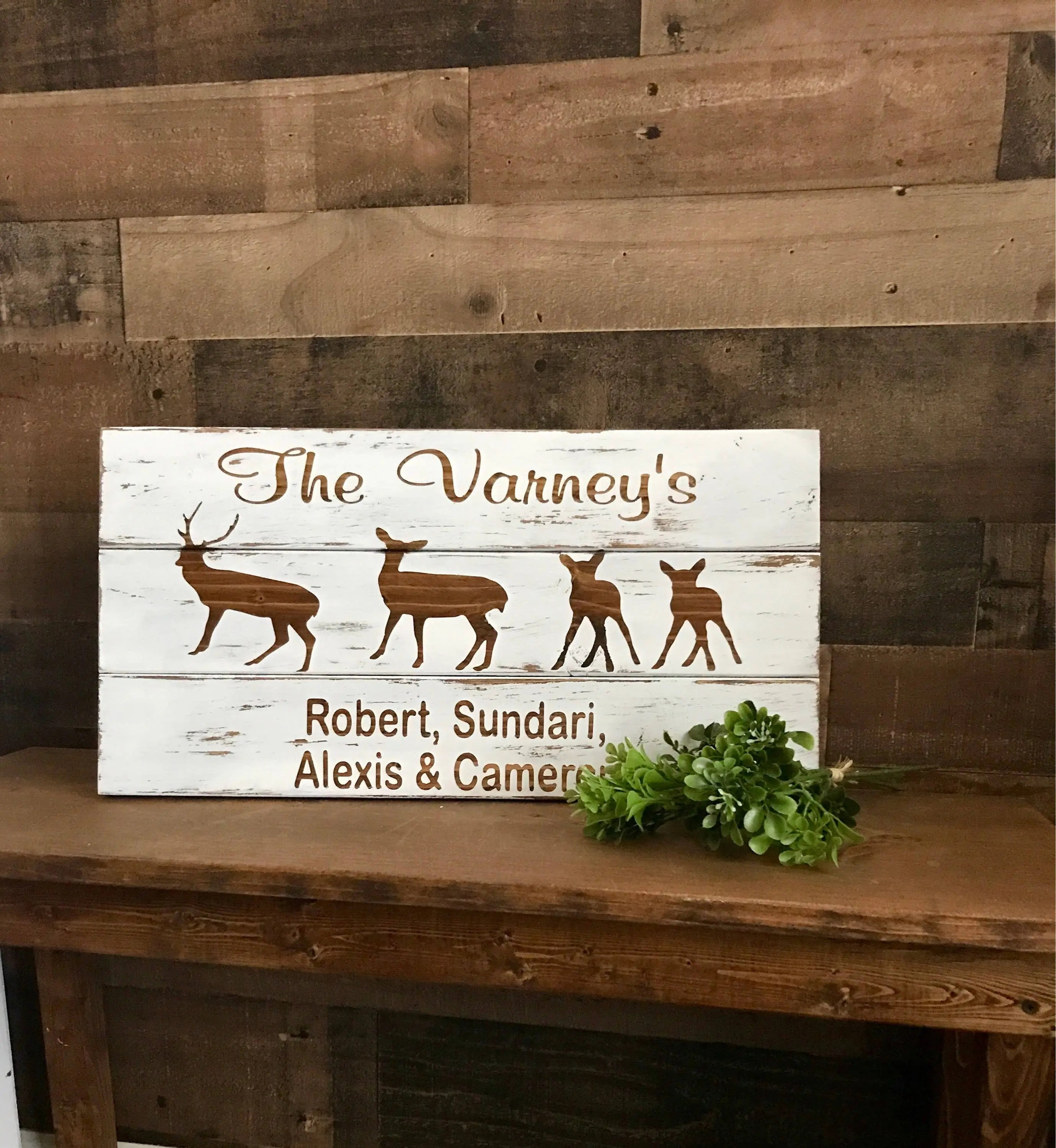 personalized family sign family