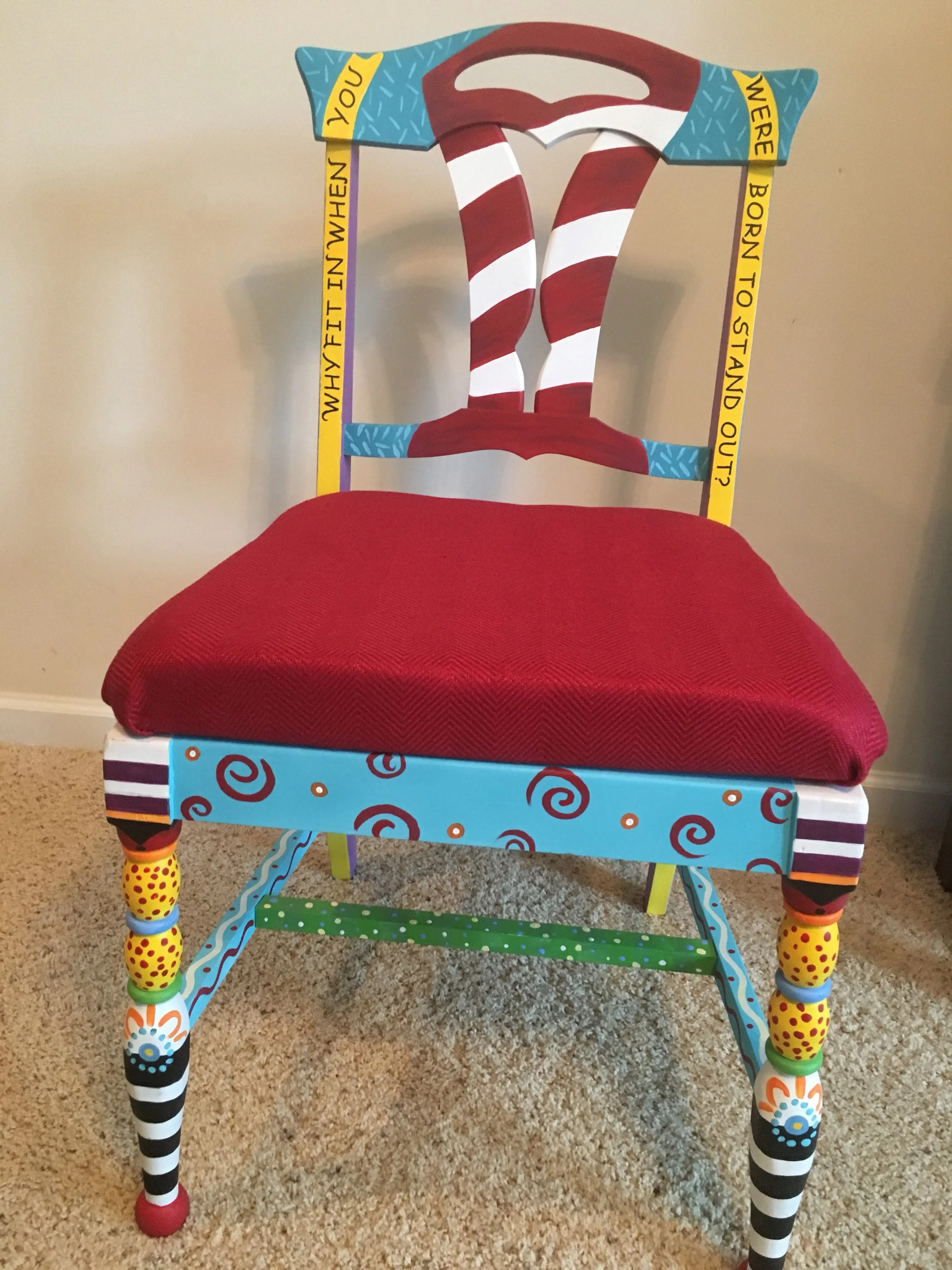 dr seuss chair stacking dining chairs john lewis made to order every teacher should have one etsy 50