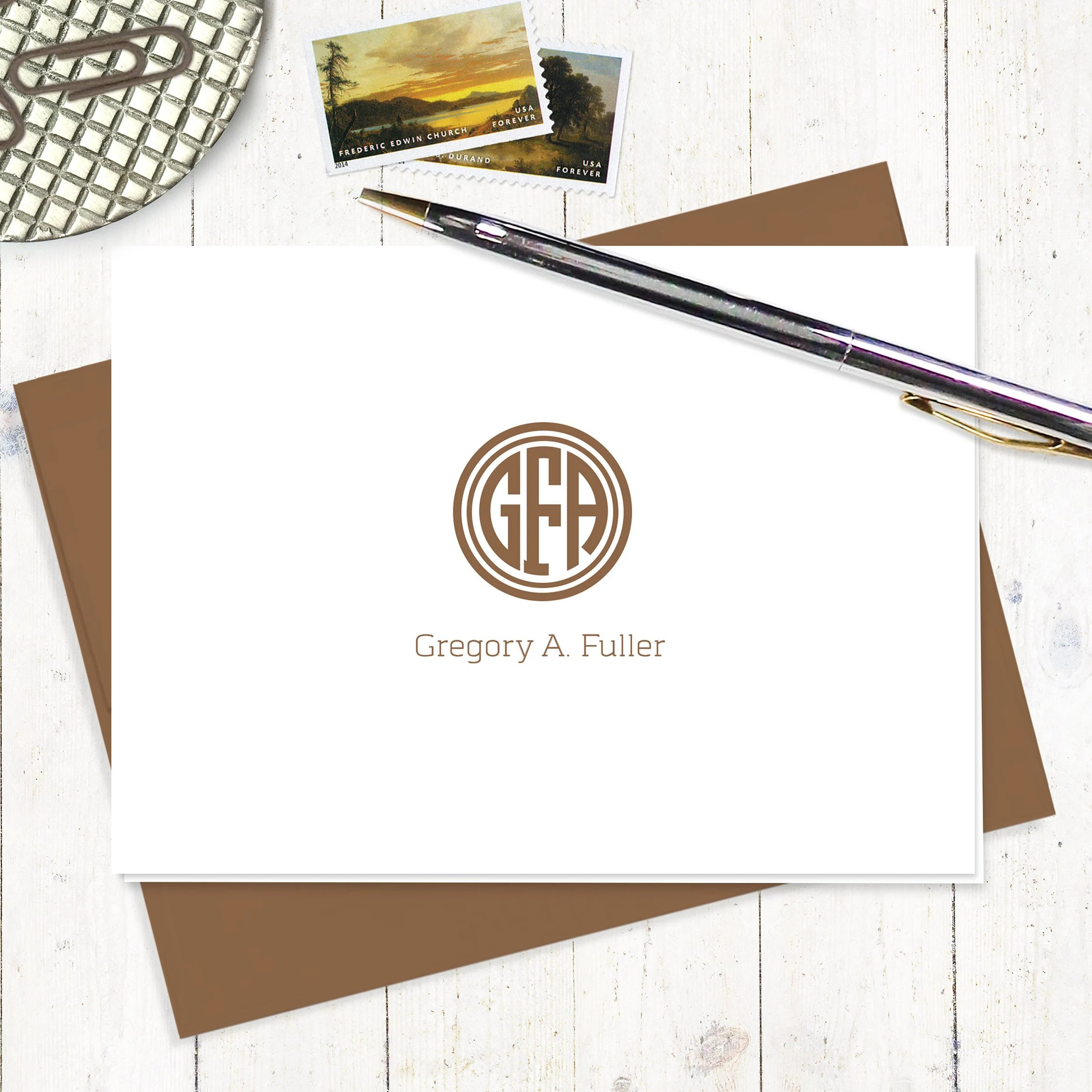 personalized note cards stationery