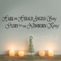 Hark the Herald Angels Sing wall decal Christmas decor | Etsy