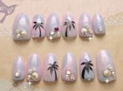 pastel nails 3d ombre tie