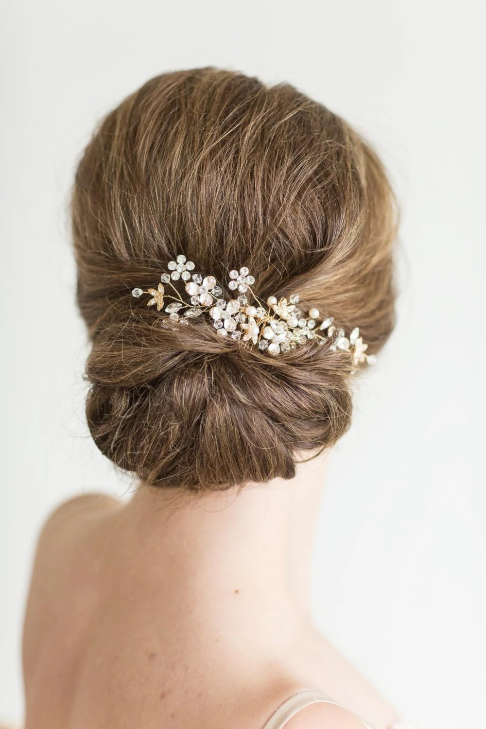 wedding hair comb rose gold bridal comb pearl crystal hair comb gold wedding headpiece silver pearl bridal hairpiece