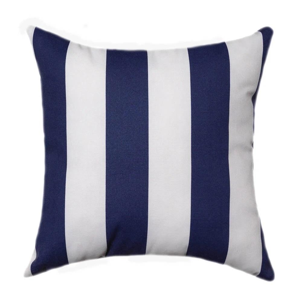 Navy Outdoor Pillow Nautical Navy and White 2 Stripe  Etsy