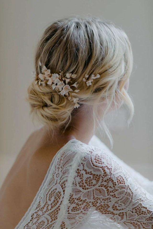 cherry blossom   wedding hair pieces, bridal hair pins