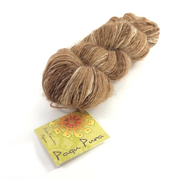 deSTASH yarn, Mirasol Paqu Pura, Sport Weight Yarn, Péruvian alpaca yarn, brown knitting yarn, natural fiber, pure alpaca, brown sport yarn
