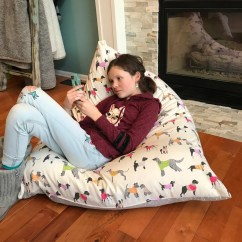 How To Sew Bean Bag Chair Types Of Covers For Wedding Pattern Etsy New Meringue Pdf Diy Stuffed Animal Storage Reversible Easy Sewing
