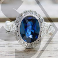 Royal Deep Blue Sapphire Engagement Ring in 18K White Gold ...
