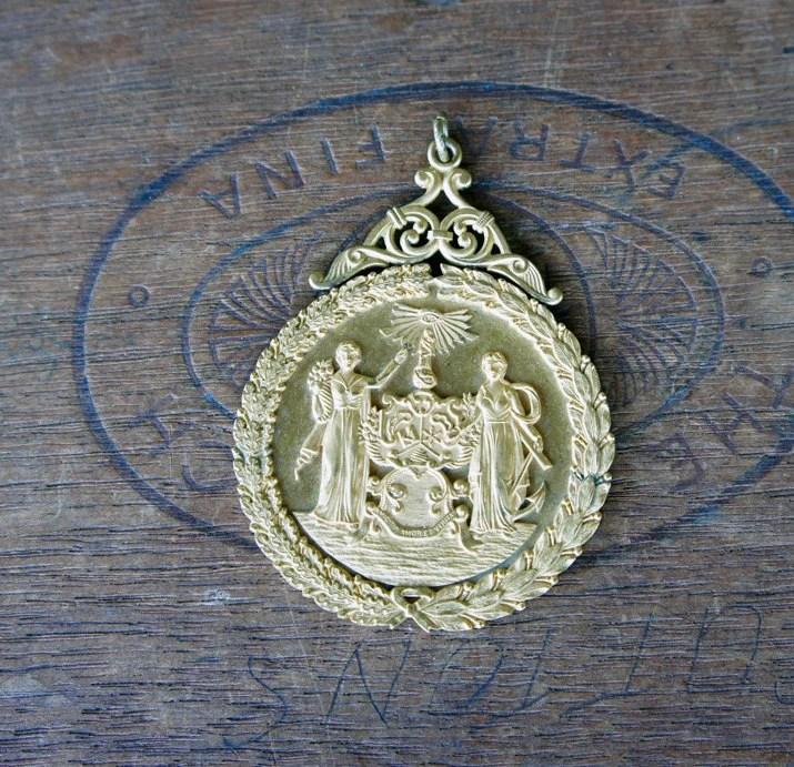 Antique Ornate Gold Plate...