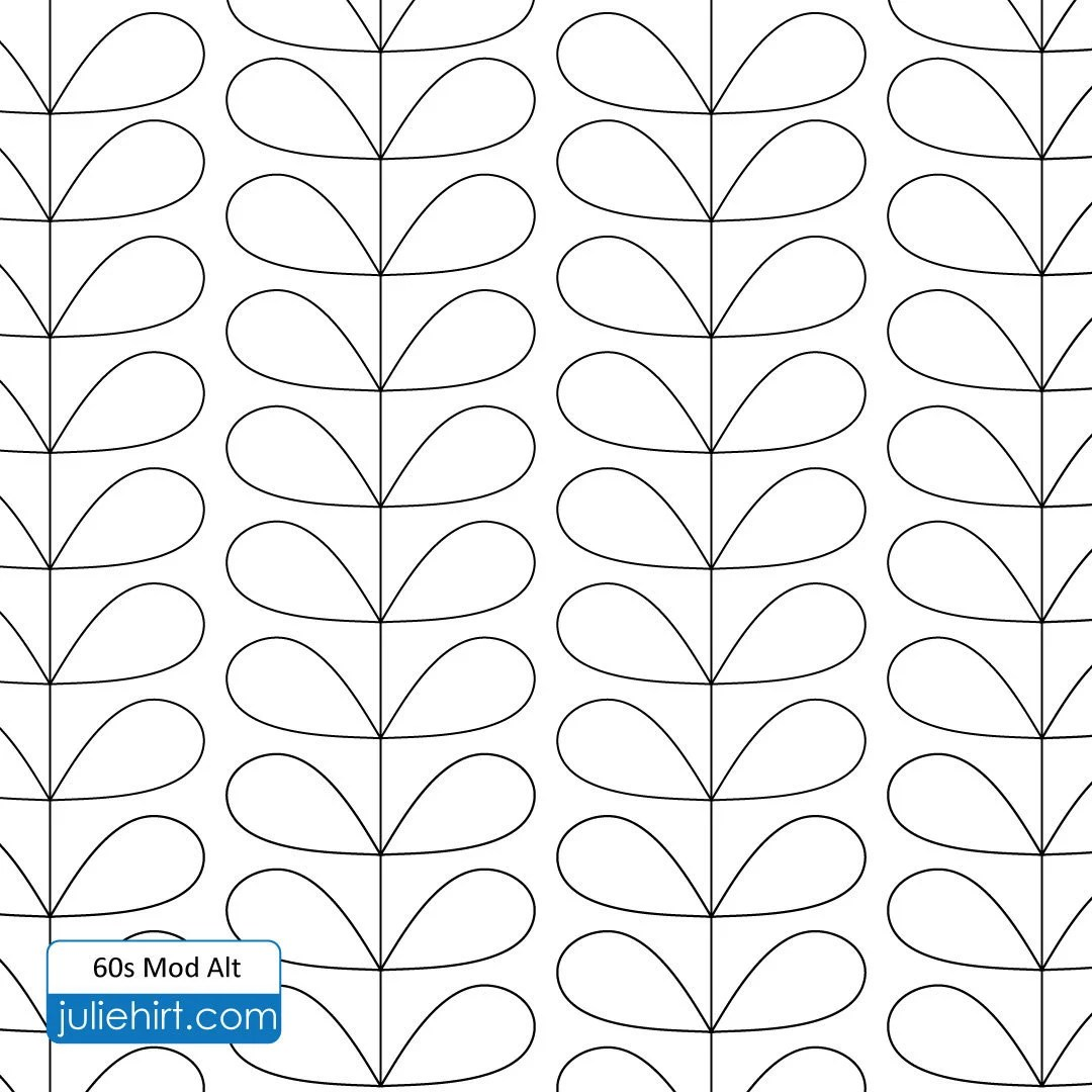 60s MOD Longarm Quilting Digital Pattern for Edge to Edge