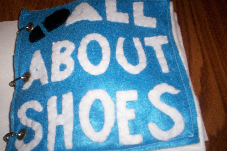 Toddler Quiet Book Shoes Shoe Tying Shoe Buckle Tie