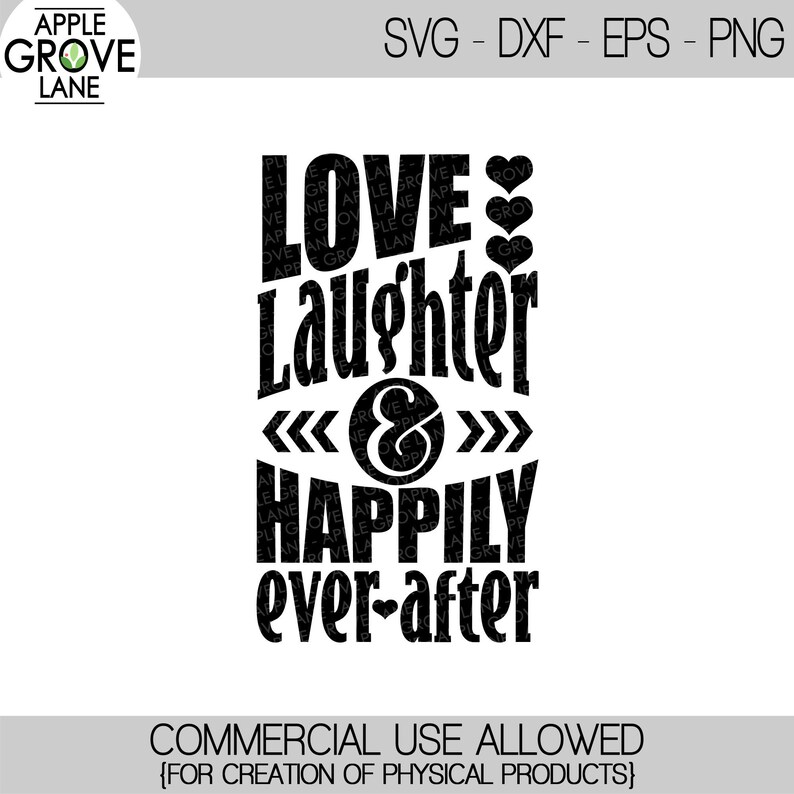 Download Love Laughter & Happily Ever After SVG Honeymoon Svg | Etsy