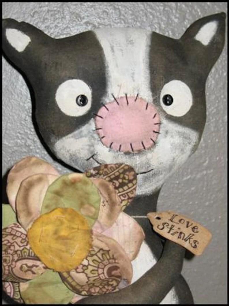 Create new account · cover photo: FTFD 26 Prim Love Stinks Valentine's Day Skunk | Etsy