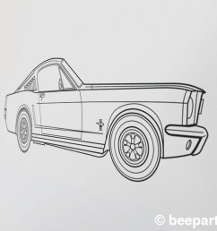 ford mustang wall decal 65 mustang fastback art pony car art auto blueprint art automobile design muscle car art car lover gift [ 1500 x 1500 Pixel ]