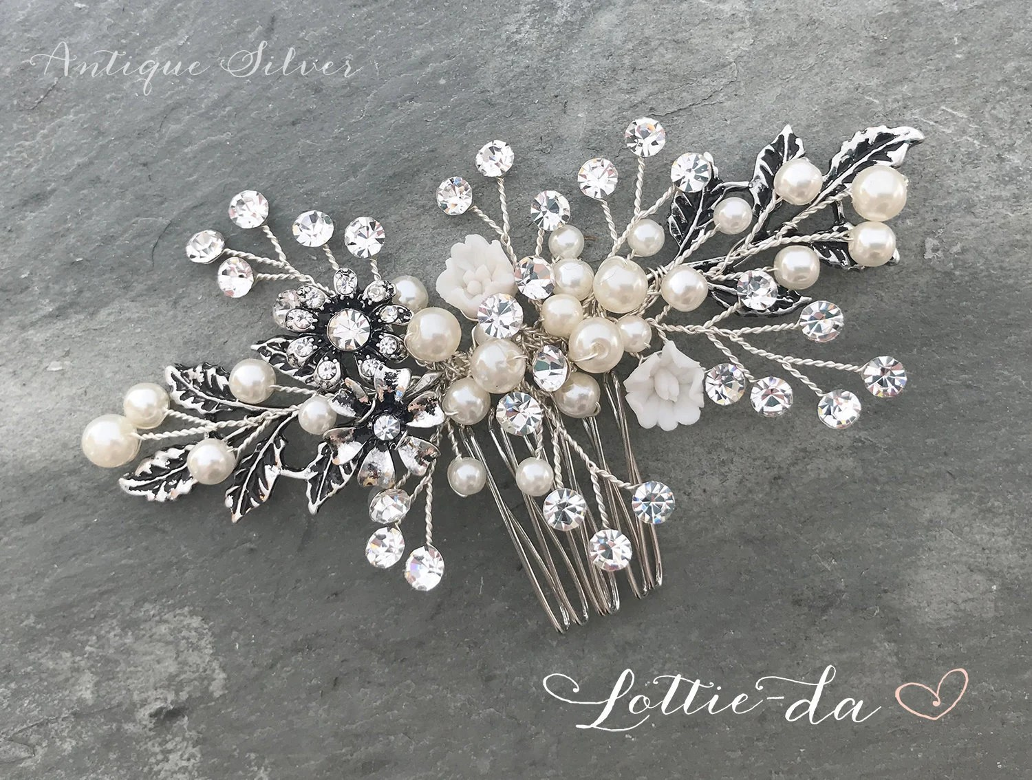 wedding hair accessory boho vintage style hair comb gold silver rose gold antique gold antique silver zara
