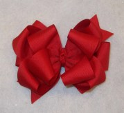 big red bow triple hair large