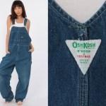 90s Osh Kosh Overalls Oshkosh Jeans Bib Overalls Painter 1990s Denim Grunge Pants Baggy Long Blue Dungarees Coveralls Extra Large Xl L