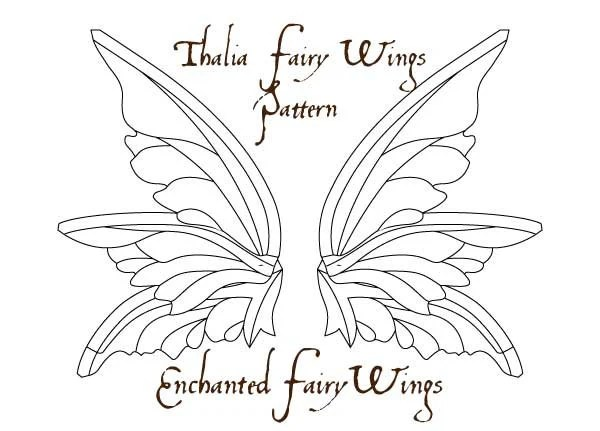 PDF download PATTERN and tutorial for Adult fairy wings