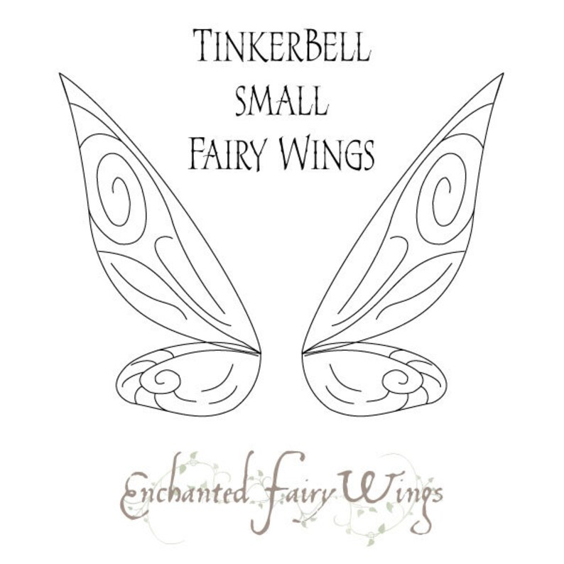 PDF download PATTERN and tutorial for fairy wings Tinker