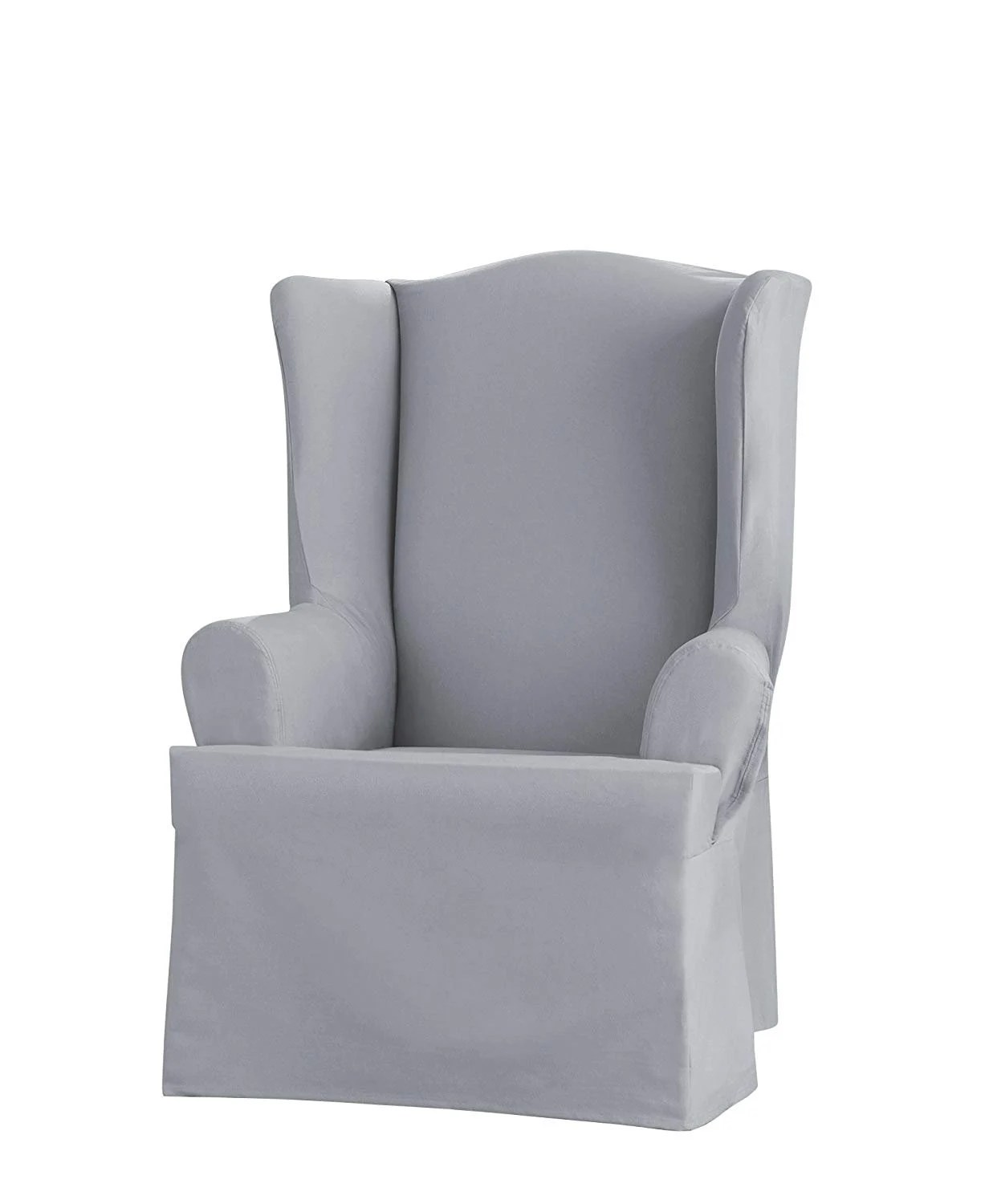 blue wingback chair slipcovers french country side chairs with arms wing slipcover etsy sure fit heavyweight cotton duck pacific