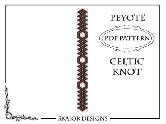 Items similar to Peyote Beading Pattern Celtic Knot