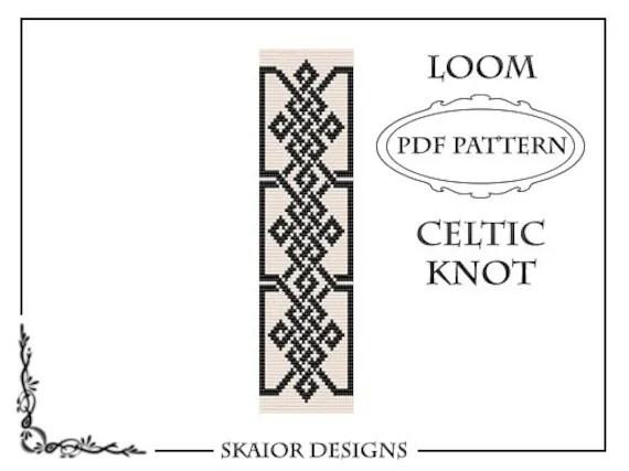 Loom Bead Pattern Celtic Knot Bracelet Cross Seed Beads