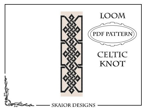 Loom Bead Pattern Celtic Knot Bracelet Cross Seed Beads