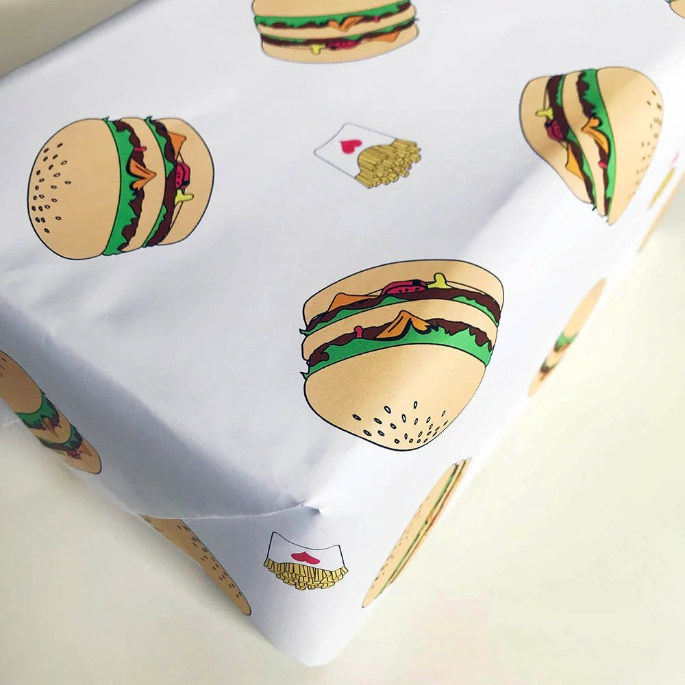 wrapping paper burger