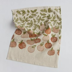 Kitchen Linens Island Kits Orchard Linen Tea Towel Dish Etsy Image 0