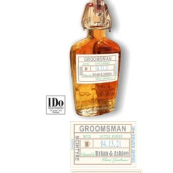 Groomsmen Proposal Whiskey Label Liquor Flask Labels Etsy