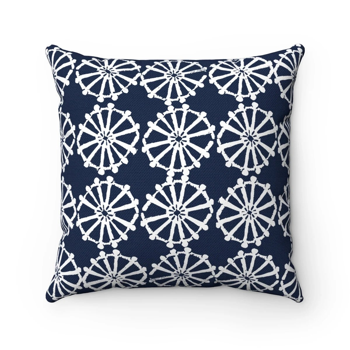 OUTDOOR Throw Pillow  Navy blue Outdoor Pillow  Navy