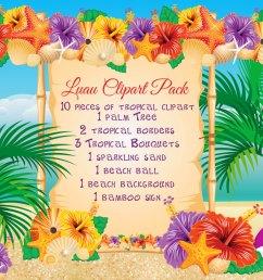 50 beach luau clipart  [ 1500 x 1125 Pixel ]
