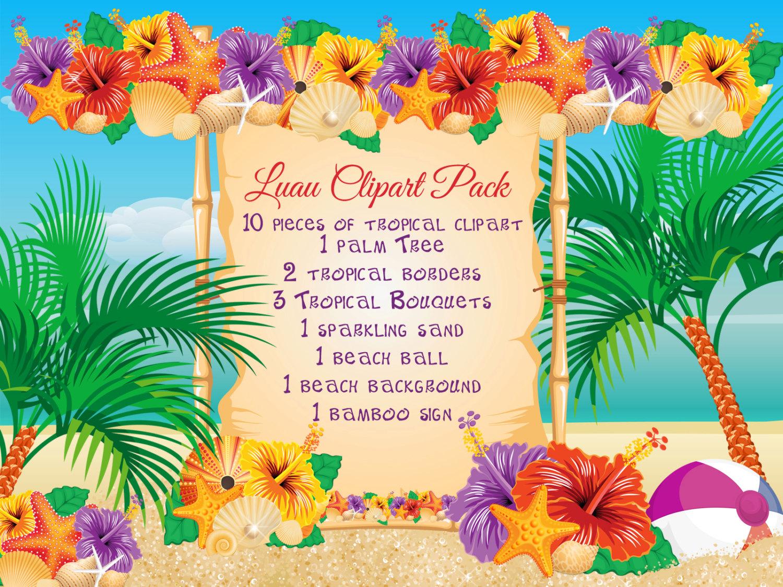 hight resolution of 50 beach luau clipart