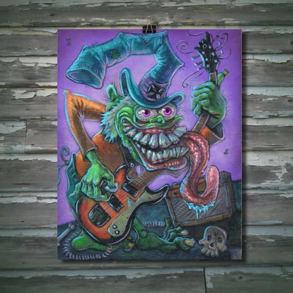Captain Fink Monster Rat Art Print