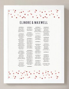 Printable seating chart poster template instant download confetti word or pages  editable artwork colors also rh swellandgrand