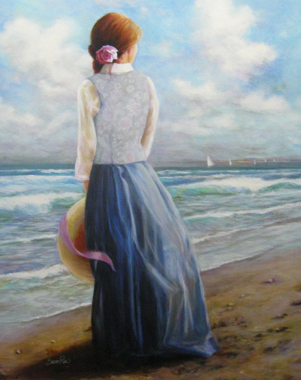 Woman Sea Print Ocean Art Seascape Moment In Time