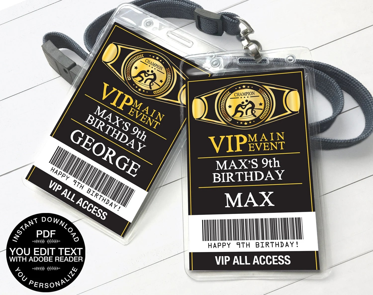 wrestling vip badge wrestling