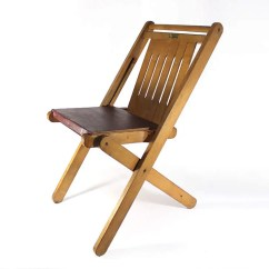 Youth Folding Chair Recliner Desk Target Vintage Wooden Made By Michigan National Etsy Image 0