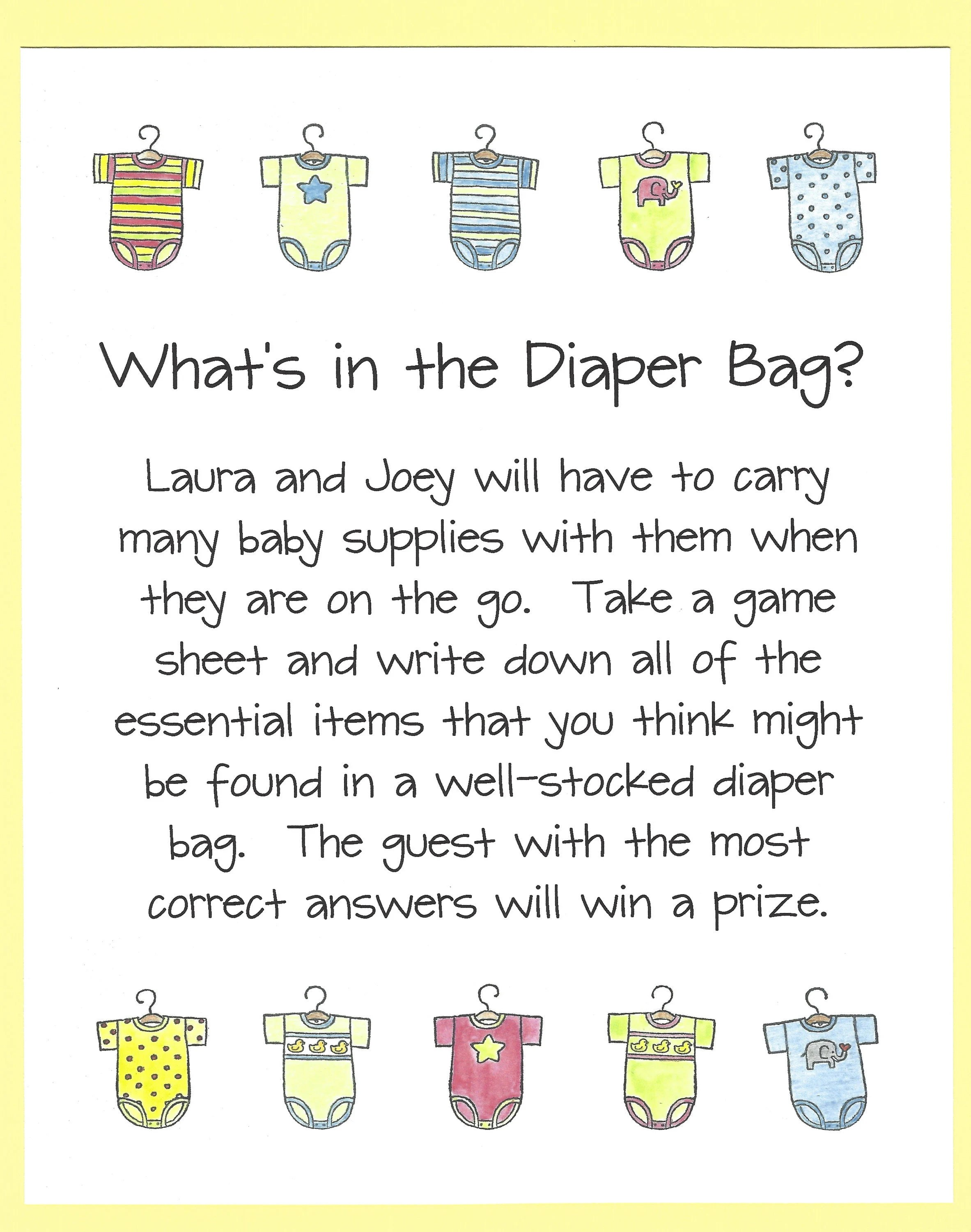 Whats In The Bag Baby Shower : whats, shower, What's, Diaper, Shower, Stock