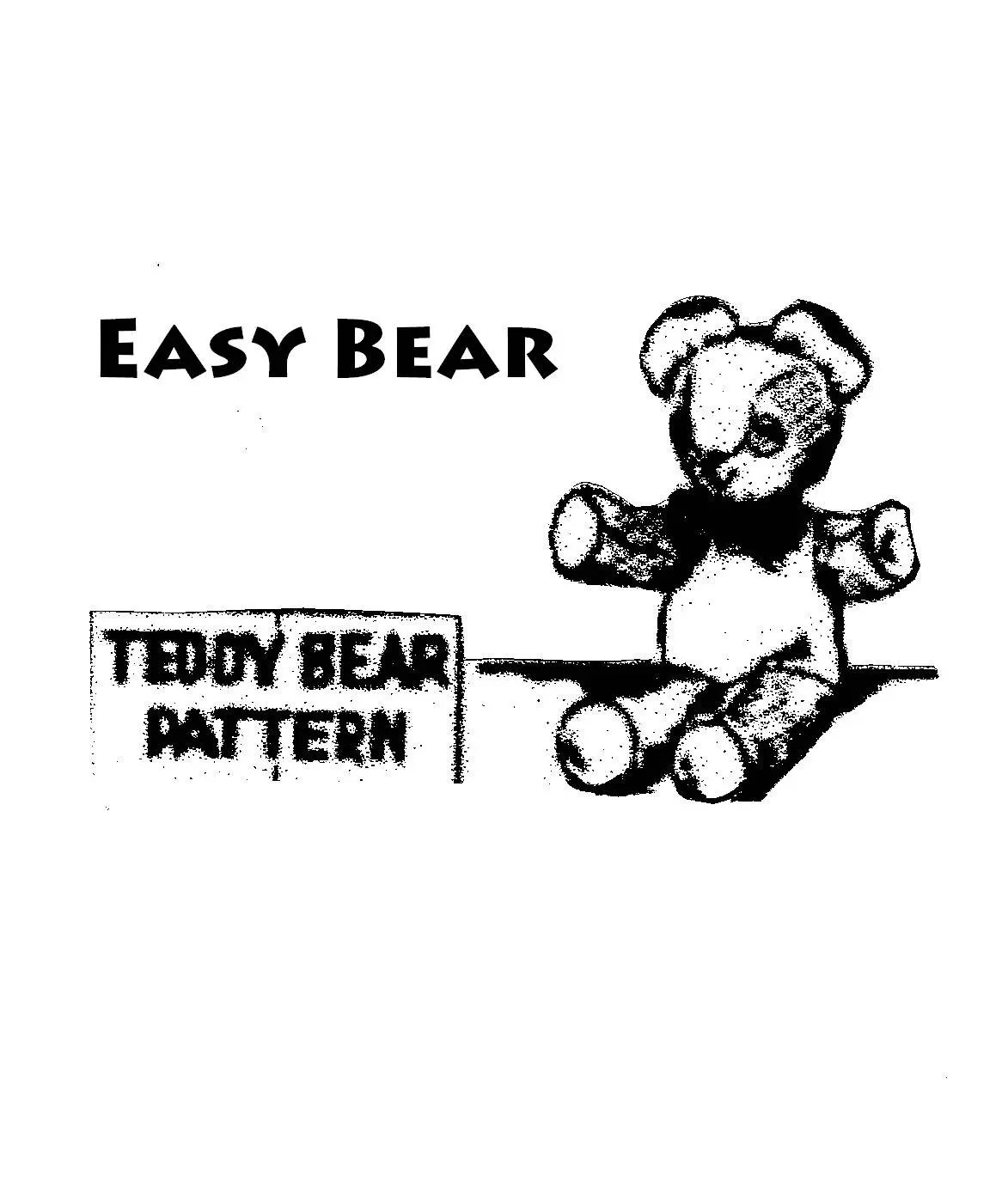 Teddy Bear Pattern Easy