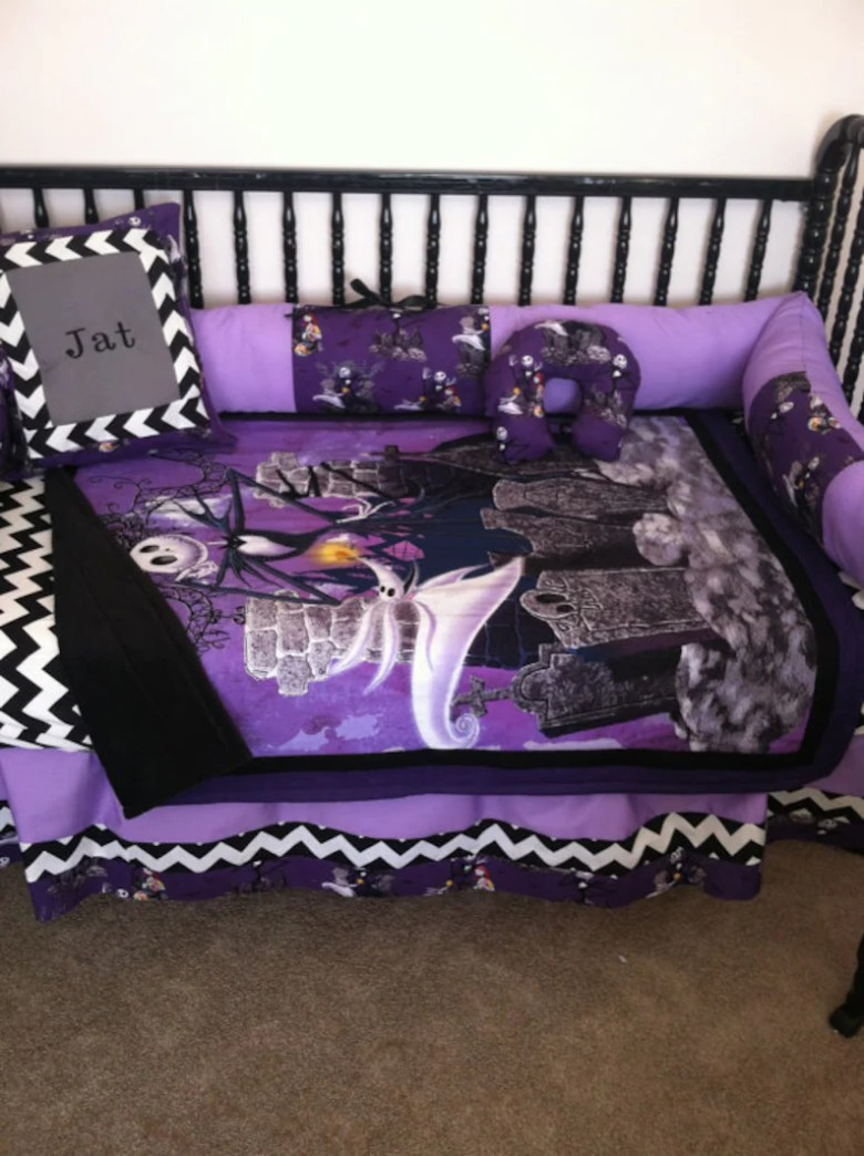 Custom Nightmare Before Christmas Baby Bedding Set