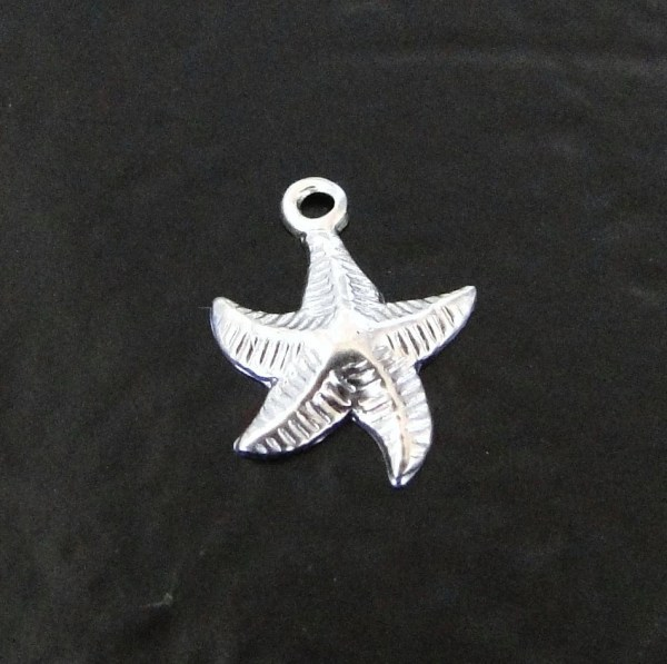 5 Pcs Sterling Silver Starfish Charm In Usa Sc7