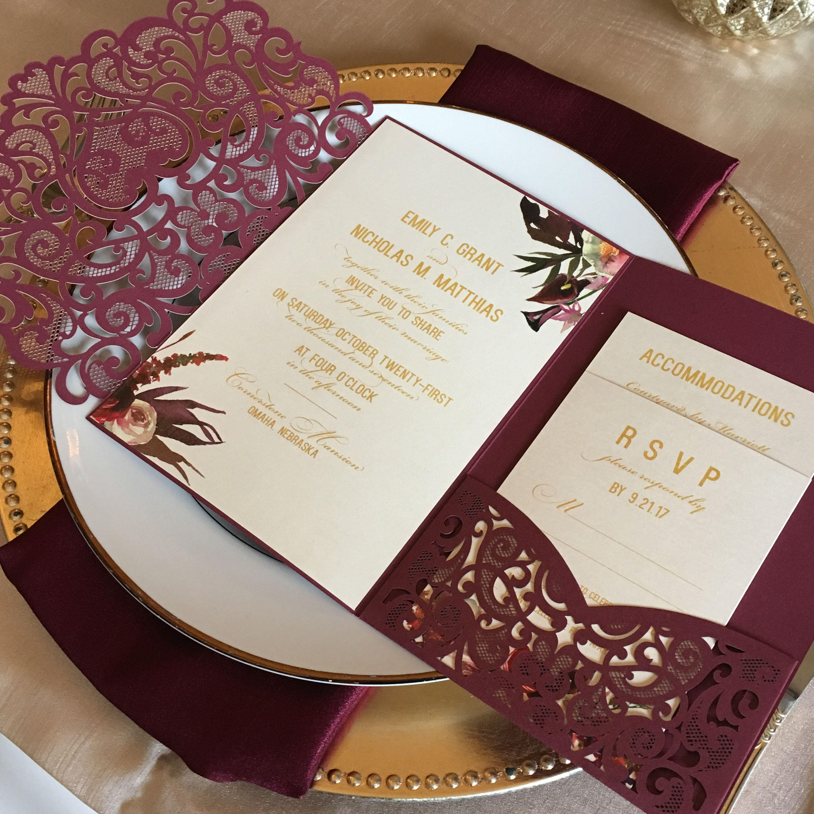 Wedding Cut Invitations Australia Laser